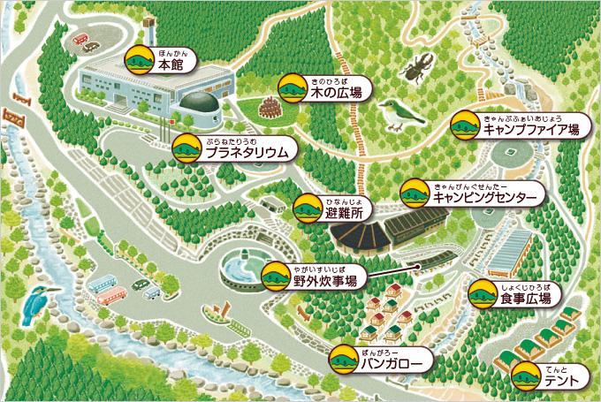 名栗げんきプラザ 施設マップ