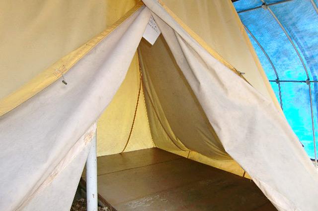 テント(内側)の写真